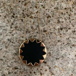 House of Harlow Long Necklace with Black Pendent